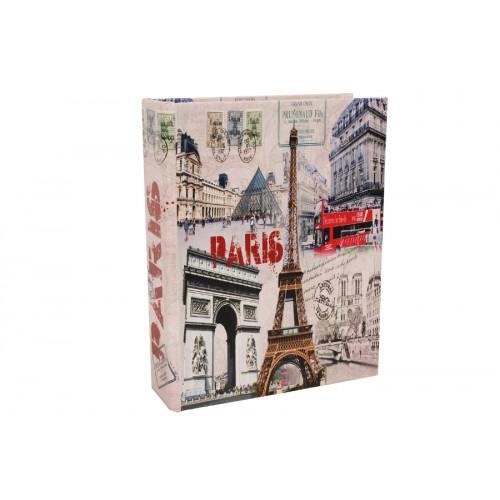 Βιβλίο – κουτί αποθήκευσης ξύλινο με επένδυση PU 29Χ23Χ7,3