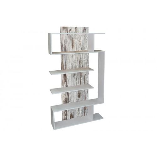 Βιβλιοθήκη – ραφιέρα 90Χ21,5Χ172 cm Γκρι Vintage – Λευκό