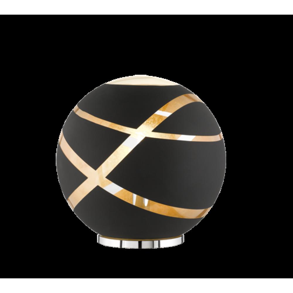 ΕΠΙΤΡΑΠΕΖΙΟ BLACK MAT GLASS D 30 CM Μοντέρνα 286-506100132