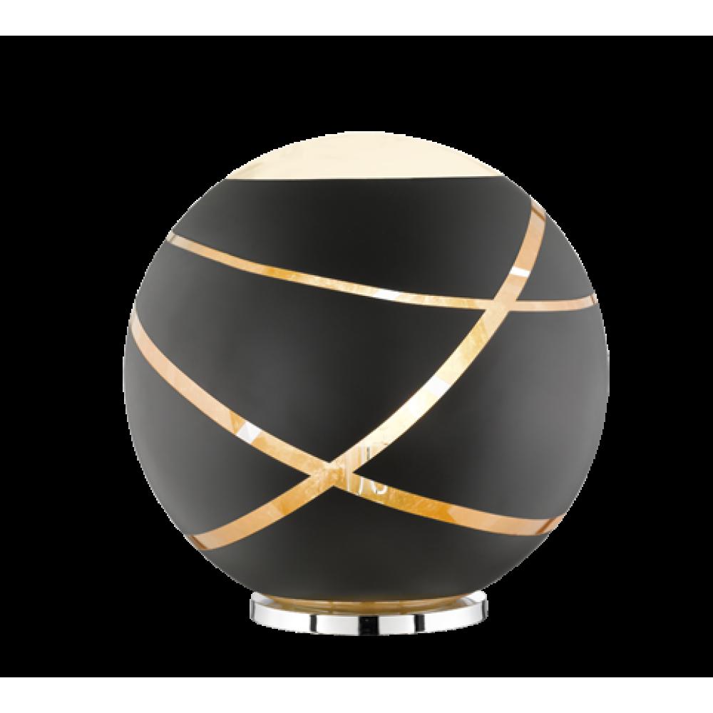 ΕΠΙΤΡΑΠΕΖΙΟ BLACK MAT GLASS D 50 CM Μοντέρνα 286-506190132