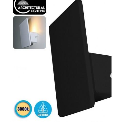 LED Φωτιστικό Τοίχου Απλίκα Αρχιτεκτονικού Φωτισμού Square Back Light Black IP54 10 Watt CREE