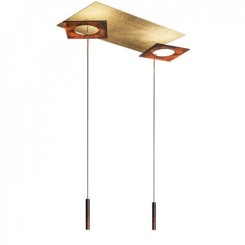 ΚΡΕΜΑΣΤΟ LED 80X40cm Etruscan gold/ Rust 5196lumen +3000lumen  dimmable