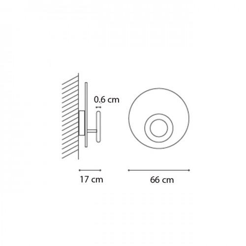 ΟΡΟΦΗΣ-ΑΠΛΙΚΑ LED D66 3697lumen dimmable made in ITALY