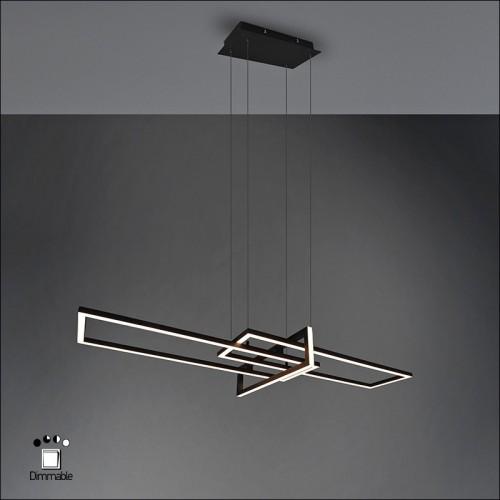 Φωτιστικό κρεμαστό led BLACK METAL 100cm 4200lm Step Dimming
