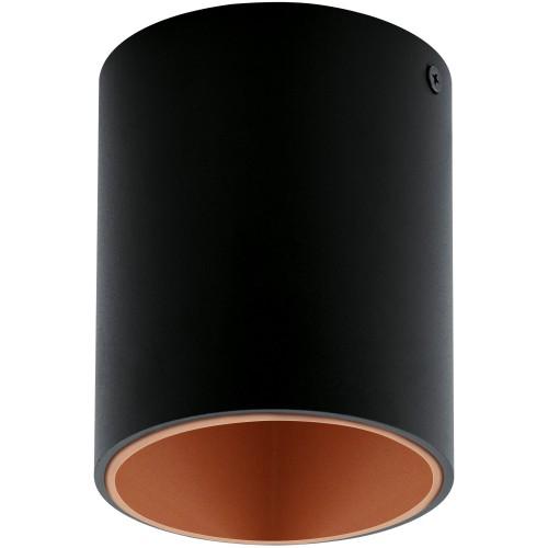 ΟΡΟΦΗΣ LED BLACK COPPER D 100 MM H 120 MM