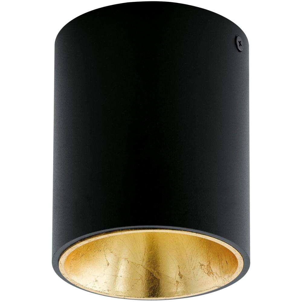 ΟΡΟΦΗΣ LED BLACK GOLD D 100 MM H 120 MM SPOTS 220-94502