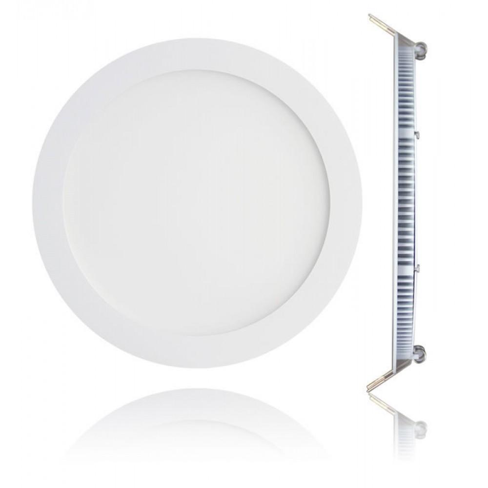 PL LED 18W Λευκό Πλαίσιο Pl Led Φωτιστικό Σκαφάκι 025-406