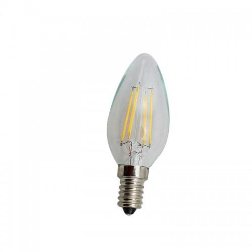 ΛΑΜΠΑ LED FILAMENT  4W E14 230V DIMMABLE ΔΙΑΦΑΝΗ