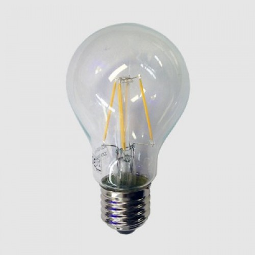 ΛΑΜΠΑ LED FILAMENT 4W E27 A60  DIMMABLE  ΔΙΑΦΑΝΗ