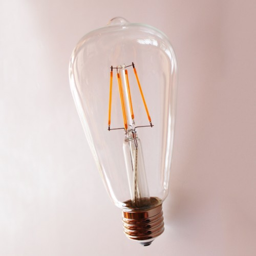 ΛΑΜΠΑ LED  FILAMENT  ST64 E27 4W Dimmable